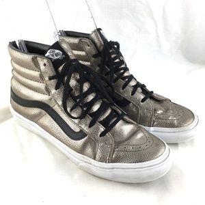 Vans Old Skool Hightop sneaker shoe pewter leather